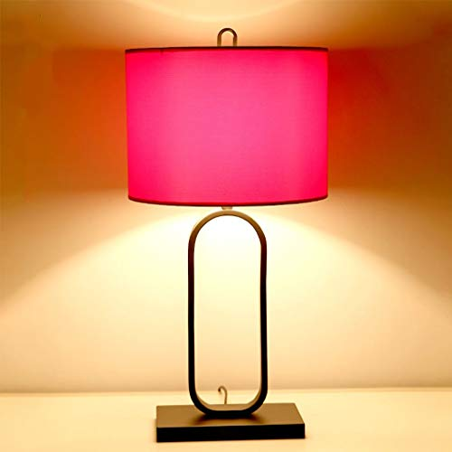 ZPP Lámpara de escritorio de lectura, lámpara de mesa de dormitorio para estudiantes, lámpara de mesa simple china, sala de estar, dormitorio cálido, luces decorativas para bodas, E27, lámpara de mes