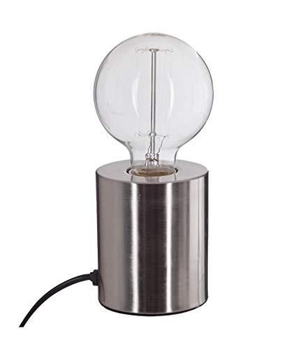 Lampe tube - 9 x 10,5 cm - Métal - Argent