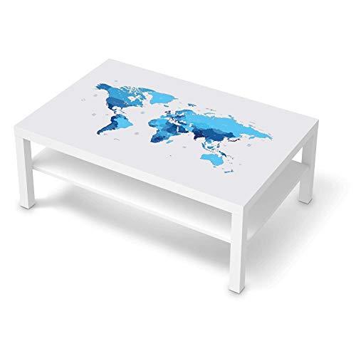 creatisto Möbelfolie selbstklebend passend für IKEA Lack Tisch 118x78 cm I Möbeldeko - Möbel-Aufkleber Folie Tattoo I Wohndeko für Esszimmer und Wohnzimmer - Design: Politische Weltkarte