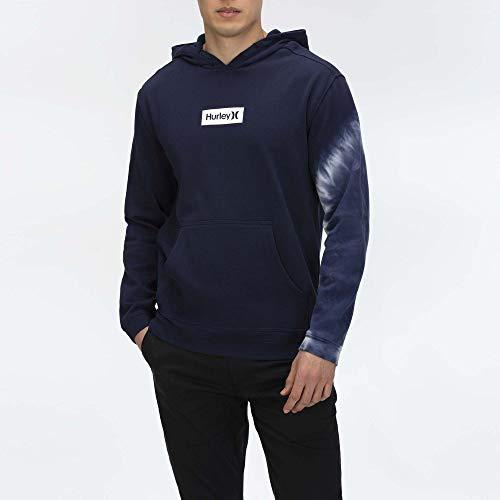 Hurley M Dip Dye Po Fleece Maillot de survêtement Homme, Obsidian, XL