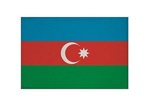 U24 Aufnäher Aserbaidschan Fahne Flagge Aufbügler Patch 9 x 6 cm