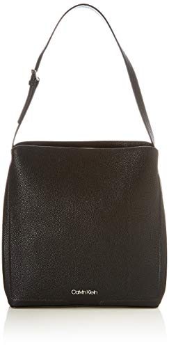 Calvin Klein, HOBO LG para Mujer, Black, 28 Inches, Extra-Large