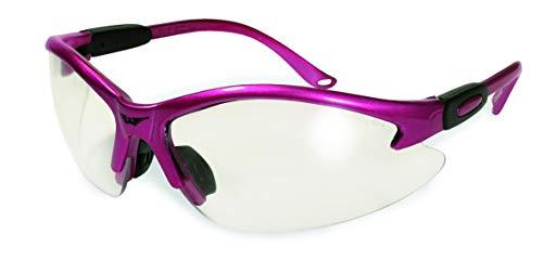 Global Vision Eyewear Women's Cougar Lab Safety Glasses Pink Frame Clear Lenses