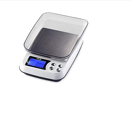 500Gx0.01g Báscula de mesa digital LCD Joyas electrónicas Diamantes Básculas de pesaje de laboratorio 0.01G Balanza de laboratorio precisa con bandeja