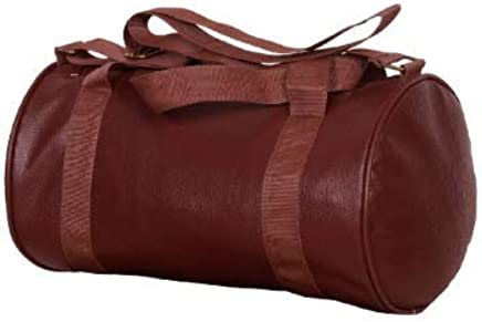 VELLORA Polyester Sports Duffle Gym Bag, Medium (Blue, vellora-drumbag-brown)