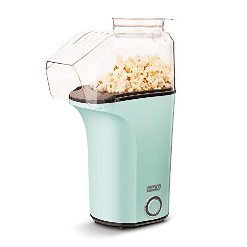 DASH DAPP150V2AQ04 Hot Air Popper Popcorn Maker, 16 cups, Aqua
