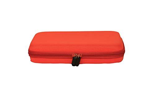 Jantaki Elektronik Zubehör Tasche (orange) für Tablets bis 9,7 Zoll.Reise Electronic Organizer für E-Books SD-Karten USB Sticks Akkus Powerbanks. Universaltasche mit 2 extra Etuis