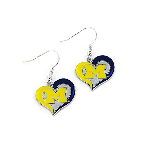 NCAA Michigan Wolverines Herz-Ohrringe
