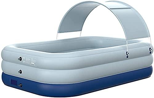 VIVOCC Piscina al Aire Libre, bañera Plegable, Cubo de natación Infantil Espesado Inflable, Piscina Grande para portátil al Aire Libre Adecuado para bañarse y Nadar (Color : Azul, tamaño : 210CM)