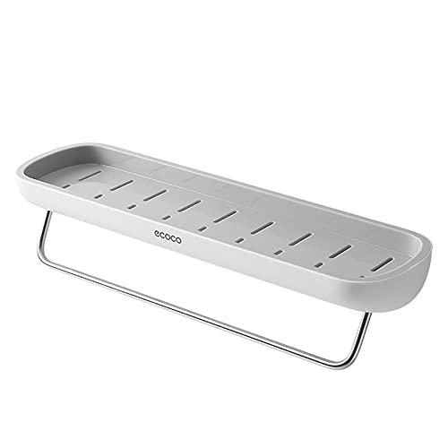 Mensola Doccia Senza Foratura,Autoadesivo Stoccaggio Portaoggetti,Alluminio Rettangolo Mensole Bagno per Bagno Cucina
