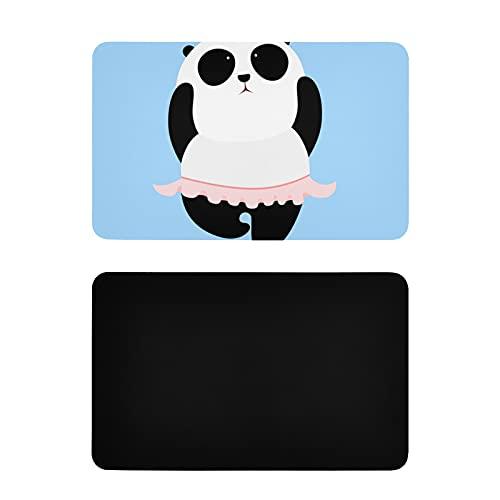 Imán Cuadrado para Nevera,Bailando,Divertido Panda Gigante,imanes Personalizados para Nevera,imanes Personalizados de PVC para Nevera para Adultos,4x2,5 Pulgadas