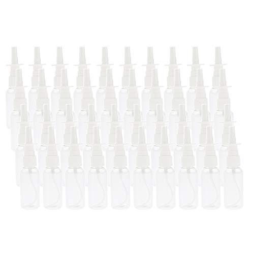 F Fityle 40pcs 30ml Vide Rechargeable Plastique Nasal Spray Bouteille Pompe Pulvérisateurs Nettoyant Conteneur pour Dispensing Médical
