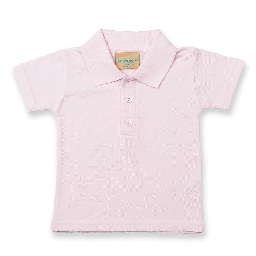 Larkwood Larkwood Kleinkinder Polo Shirt (0-6 Monate) (Hellrosa)