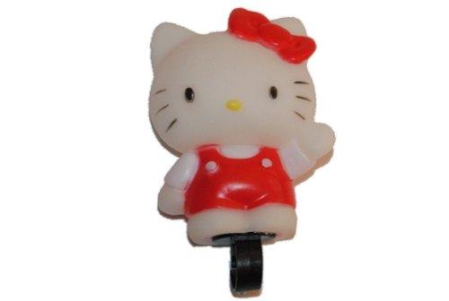 alles-meine.de GmbH Fahrradklingel Hello Kitty Fahrrad Quietsch Hupe rosa pink Katze Kinderglocke