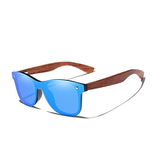 FFSMCQ Gafas de mujer Gafas de sol de madera natural Hombres Polarizadas Moda Gafas de sol de madera original