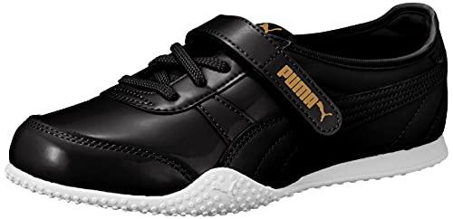 [プーマ] スニーカー 運動靴 ベラ V パテント 382722 レディース 21年秋冬カラー ブラック チーム ゴールド(01) 25.5 cm