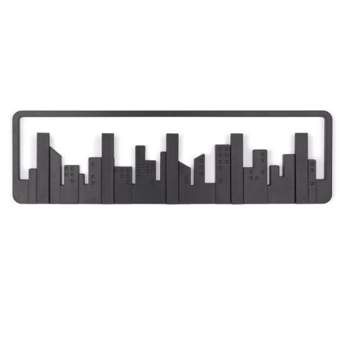 Umbra 318190-040 Percha de pared Skyline Multi Negro