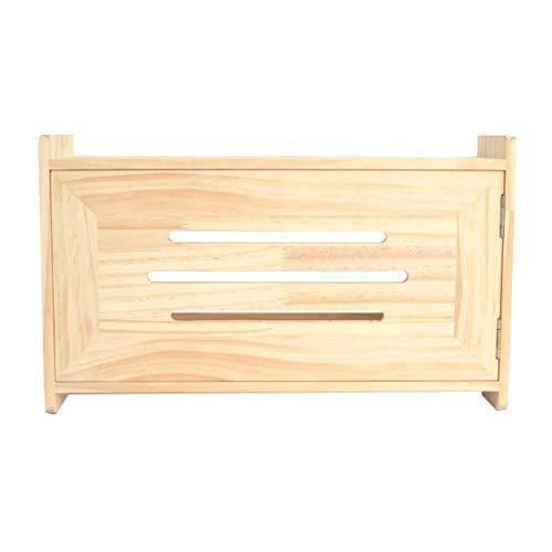 Houten Router Storage Box Set Top Box Socket-afgeschermde kabel Box Hangstelling Muur Floating Shelf Vrijstaand Shelf DVD speler Satelliet Storage Shelf in de slaapkamer Living Room
