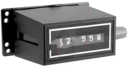 Trumeter 2-1006, Counter; Electromechanical; 115 VAC; Base Mount; 6; 7.8 W; Wire Leaded