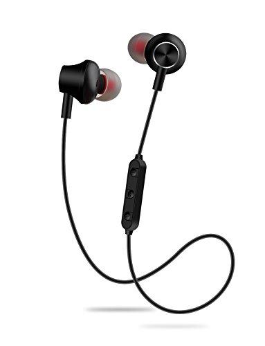 Wiw Bluetooth Headphones Wireless Earbuds Magnetic Stereo Earphones IPX4 Gym Earphones with Built-in Mic Black