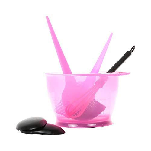 Lomsarsh 5Pcs Kit de teinture pour la coloration des cheveux Kit de teinture pour les cheveux Outil de brosse de peigne de couleur pour le salon de coiffure