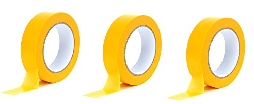 Premium Goldband 25 mm x 50 m   Profi Soft Tape UV-beständig   Lackierband Kreppband Feinkreppband Abklebeband (3)