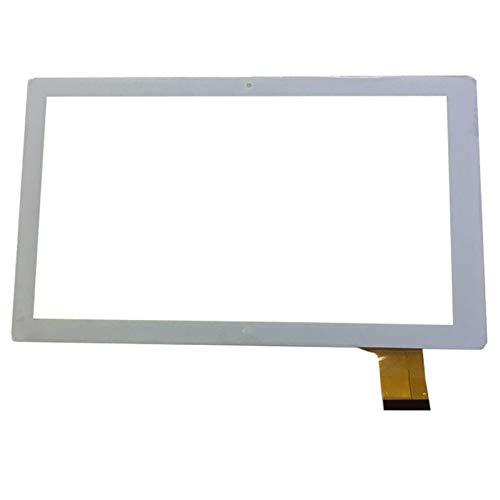 WANGYAN1886 Touchscreen Display Ersatz 10.1-Zoll-Touchscreen Fit für Denver Taq-10153 Tablet-PC-Panel-Glas-Digitizer-Sensor (nur Touchscreen) (Color : White)