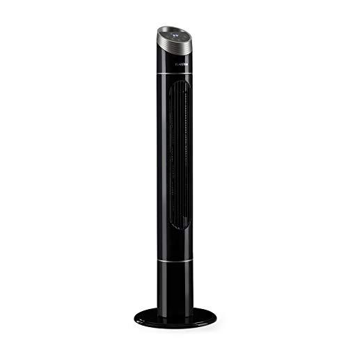 Klarstein Sky High - Elegance Edition, Ventilatore a Torre, Ventilatore, 3 Modalità: Normale, Silenzioso e Natura, Oscillazione 75°, Timer 0-12 Ore, Controllo Touch, Telecomando, 40W, Nero