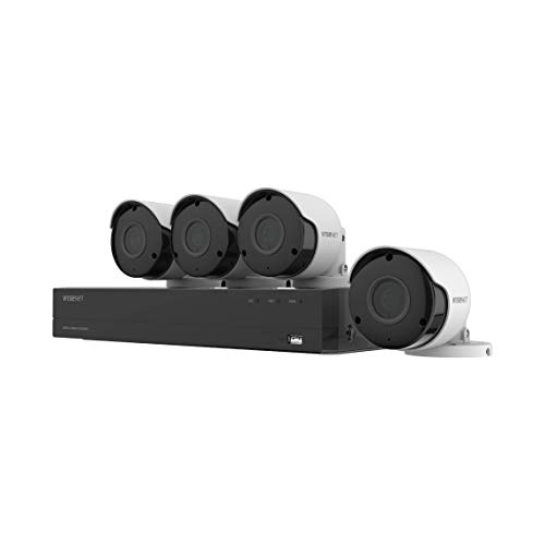 Wisenet SDH-B84045BF 8 Channel Super HD DVR Video Security System with 1TB Hard Drive and 4 5MP Weather Resistant Bullet Cameras (SDC-89445BF) (Renewed)