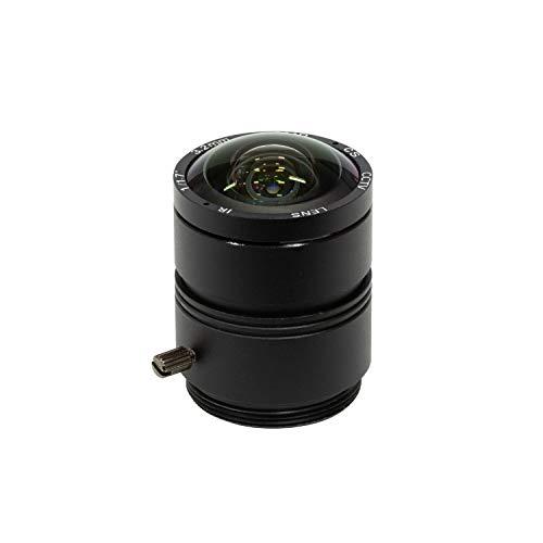 Arducam 120 Grad Ultra-Weitwinkel-CS-Objektiv für Raspberry Pi HQ-Kamera, 3,2 mm Brennweite mit manuellem Fokus