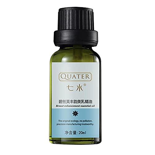 QIANSHENG Aceite Esencial de Hierbas Naturales para Mejorar el Pecho, suero para agrandar los Senos, Crema reafirmante para aclarar el Busto, Aceite de Masaje para el Pecho más Grande, 20 ml