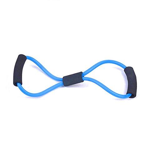 WINOMO Brust Expander Widerstandsbänder Übung Stretching Gurt für Home Übung Fitness (blau)