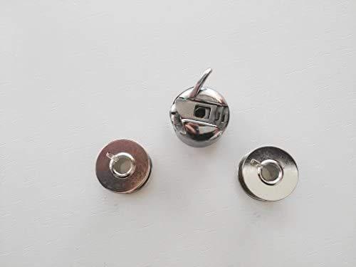 Canillero para maquinas de Coser Alfa, Singer, Lervia, Brother, etc. + 2 canillas metálicas