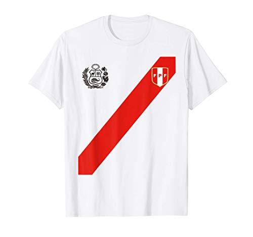 Fútbol Soccer Logo Perú Polo Peruano Escudo Franja Roja Camiseta