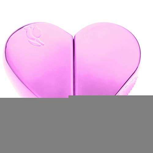 Bouteille de pulvérisateur de parfum rechargeable en forme de coeur(Rose), Voyage 25ml bouteille d'atomiseur de parfum rechargeable en forme de coeur vide pompe pulvérisateur rose