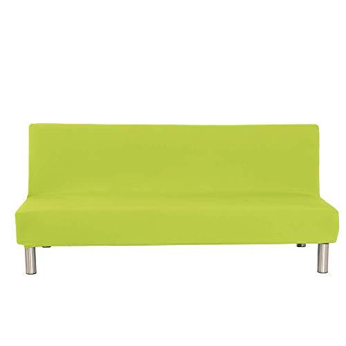 XHNXHN Fundas para sofá Cama de Color sólido, Funda Protectora para sofá sin Brazos, Funda elástica de Licra para sofá Plegable, Protector para futón, Verde