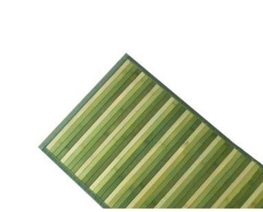 Tappeto in Bamboo Naturale - Antiscivolo - Interni ed Esterni - (50X230, Verde)