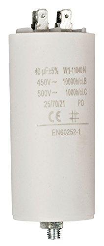 Condensador de arranque para motor electrico 450 VAC (40 uF)