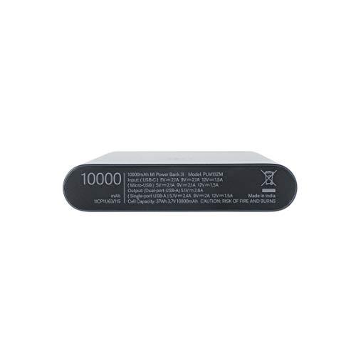 Mi 10000mAH Li-Polymer Power Bank 3i with 18W Fast Charging (Midnight Black)