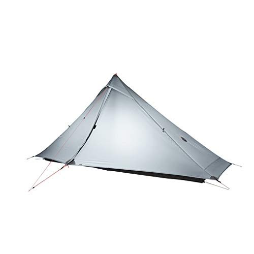 ZYM Frame Tents Ultralight Camping Tent Single Person Easy Set Up Waterproof Portable Instant Tent for Hiking Cycling Dome Tents (Color : Gray)