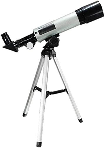 Prismáticos Telescopio Telescopio Principiantes Niños, 50mm Apertura 360mm para Astronomía BAK4 Prisma FMC Lente AZ Refractor astronómico con Smartphone