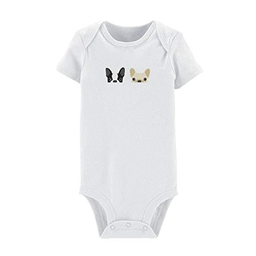 TIINTEXBA Baby Boy Girl Clothes Funny Baby Onesies Boston Terrier and French Bulldog Friends Cotton Short Sleeve Bodysuits