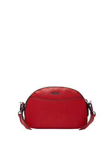 s.Oliver Damen City Bag in Glattleder-Optik Red 1