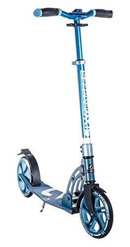 Six Degrees Aluminium Scooter BS - Tretroller, 205 mm, ABEC 7 Kugellager, für Kinder & Erwachsene, GS-geprüft, höhenverstellbar, blau