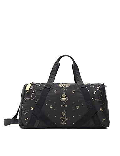 Desigual Bols_Sport Constelaciones, Luggage Donna, Nero, Taglia Unica