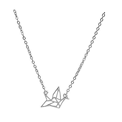 Handmade accessories Accesorios Hechos a Mano kakupao Origami Cisne Collar, Collar de Cisne de Papel, Collar para Mujeres, Ideas de Regalo, Regalos de Boda, Dama de Honor Regalos