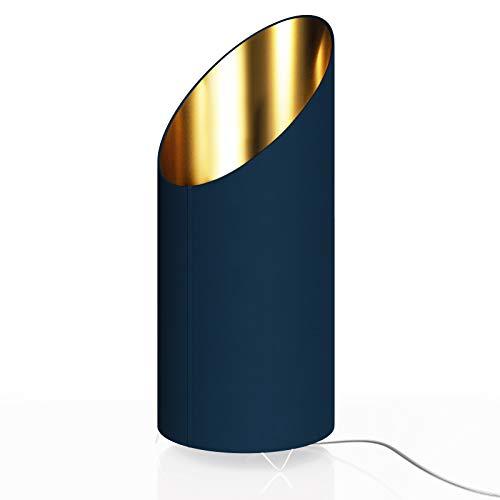 Designlampe Tischlampe Flammeneffekt 1600 Kelvin Blau/Gold Tischleuchte Nachttischlampe E14 Schreibtischlampe Lampe Leuchte