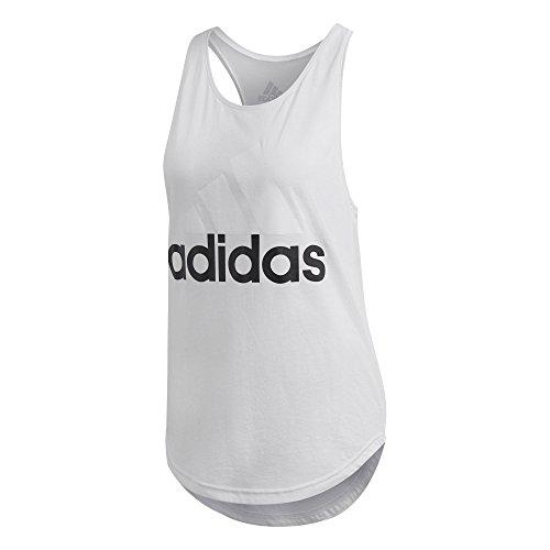 adidas Ess Lin Lo Camiseta de Tirantes, Mujer, Blanco (Blanco/Negro), L