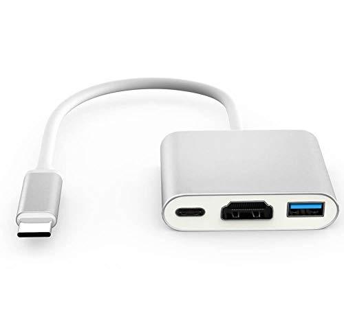 USB C auf HDMI/USB3.0/USB 3.1 Adapter,Unterstützt 4K/60Hz,BACAKSY Typ C zu HDMI Konverter Digital AV Multiport Adapter unterstützt Ultra-HD für Apple MacBook Chromebook Pixel Dell