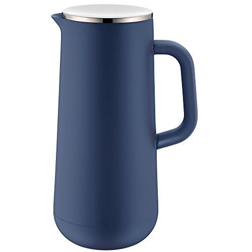 WMF Impulse Thermoskanne 1l, Isolierkanne für Kaffee oder Tee, Drehverschluss, hält Getränke 24h kalt und warm, blau